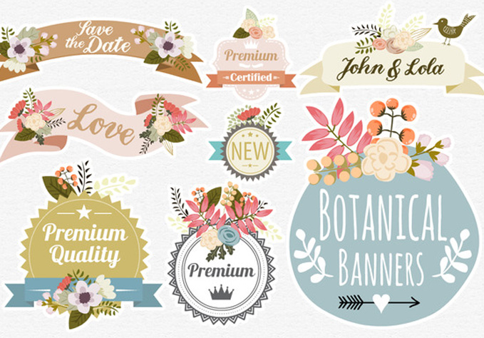 Botanical-Banners5 Best sellers Fonts And Graphics