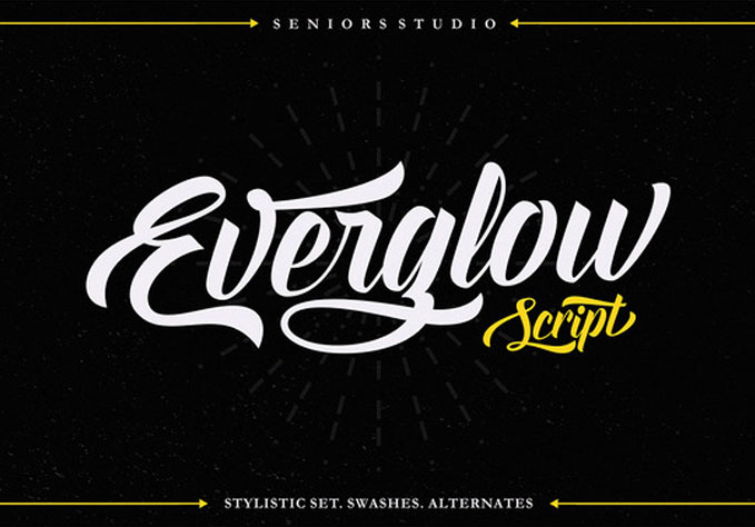 Everglow-Script1 Best sellers Fonts And Graphics