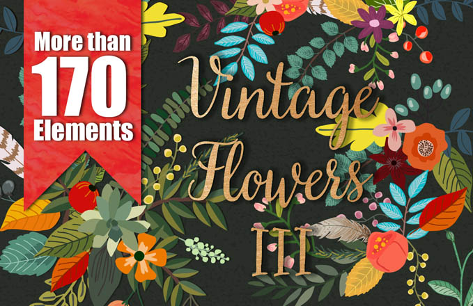 Vintage_Flowers1 Best sellers Fonts And Graphics