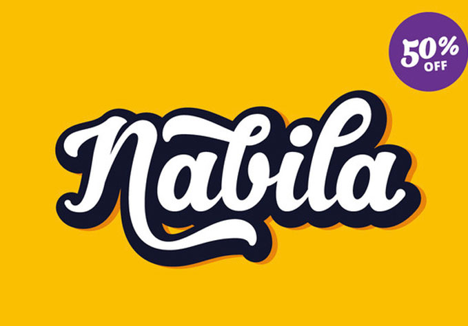 nabila1 Best sellers Fonts And Graphics